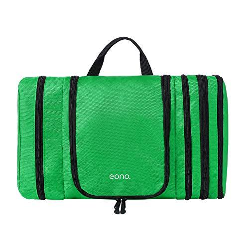 Eono Essentials Platzsparende, wasserfeste Kulturtasche zum Aufhängen, Grün -