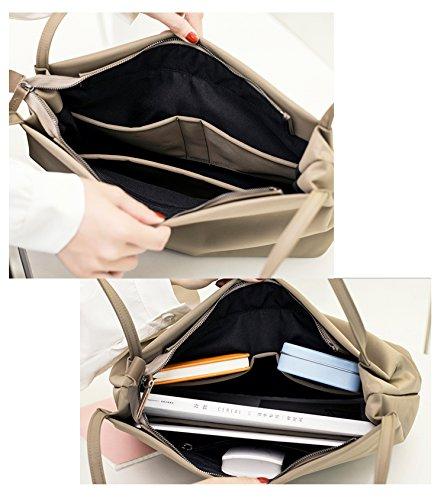 Artone Damen Wasserabweisend Oxford Tragetasche Handtasche lässigen Henkeltaschen Schultertaschen Schwarz Beige