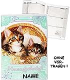 Hausaufgabenheft - ' süße Kätzchen - Katzen / Stubentiger ' - incl. Name - für...