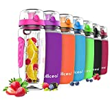 Best Insulated Filtered Water Bottles - Willceal Fruit Infuser Water Bottle 32oz Durable, Large Review