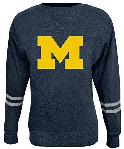 Alta Gracia NCAA Damen Crew Sweatshirt, Damen, Rosaura, Navy, Large Scoop Neck Fleece Sweatshirt