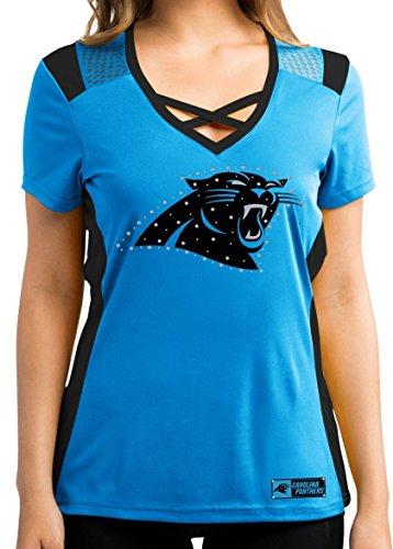 """Carolina Panthers Women's Majestic NFL """"Draft Me 2"""" Jersey Trikot Top Shirt"""