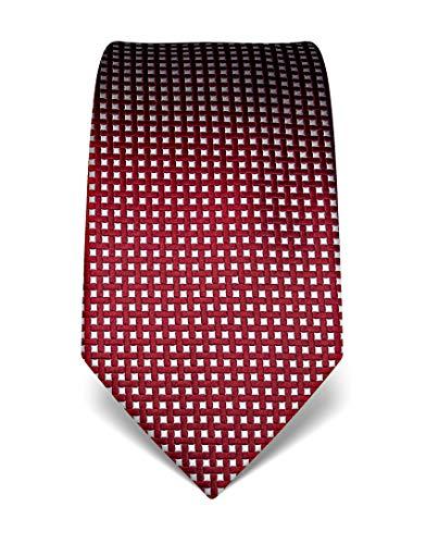 Vincenzo Boretti Herren Krawatte reine Seide Karo Muster kariert edel Männer-Design zum Hemd mit Anzug für Business Hochzeit 8 cm schmal/breit weinrot
