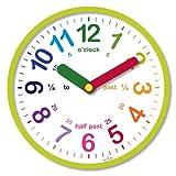 Acctim, Orologio da parete 21885 LuLu grün, multicolour, plastica;vetro, tondo
