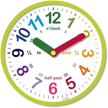 wall clock. acctim 21885 lulu wall clock, green clock i