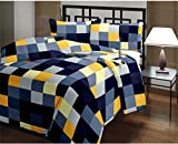 Handcraftd Checked Print Reversible Poly Cotton AC Comfort/Blanket/Quilt (Single Bed)