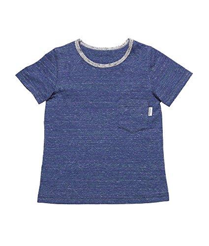 Oceankids Mädchen Baumwoll Shirt Runder Kragen T-Shirt mit Tasche Blau 4T (T-shirt Force Kleinkinder Air)