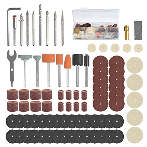 BUYGOO 86Pcs Mehrzweck Zubehörset für Multifunktionswerkzeug Zubehör Set Drehwerkzeug Zubehör Set mit Standard 3,5mm, Polierwerkzeug Zubehör für Polieren Fräsen Gravieren Schleifen