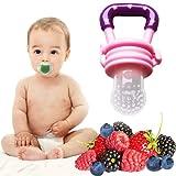 Gesunde Ernährung von Babys und Kleinkinder durch Fruchtsauger mit Gemüse