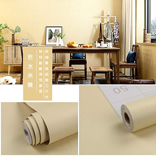 Einfarbig wasserdicht dick selbstklebende Tapete Schlafzimmer Tapete Wohnzimmer Weinrot Wasser - beige extra groß 0,45 m * 10 m