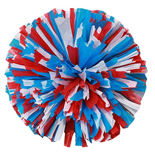 Blancho 2 Stück Cheerleading Cheer Pom Poms Sport-Tanz-Cheerleader Multi Color Pom Poms