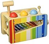 Tooky Toy TKC122 Holzspielzeug Craft Trikes Pfund und Tippen Bench, 27,5x 14x 20,5cm