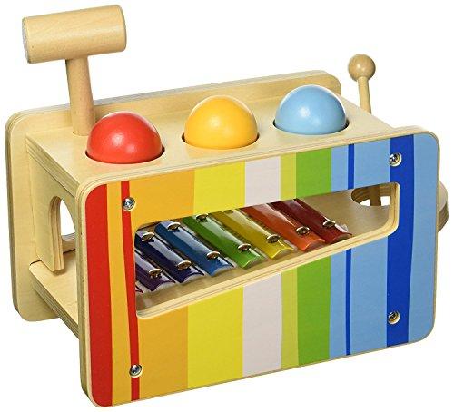 Tooky Toys TKC122Andreu Pound & Tap Bench, Multicolore, 27.5x 14x 20.5cm
