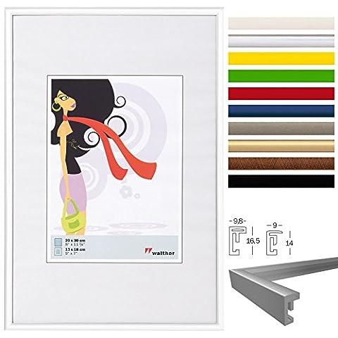 WOLTU #315 Bilderrahmen Bildergalerie Fotogalerie , Foto Collage Galerie , Kunststoff und Echtglas , New Life Style , Weiss , 13x18