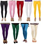 #10: Isabella Cotton Lycra Leggings for Women Combo (Pack of 9)