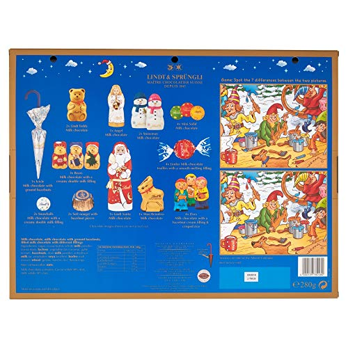 Lindt Milk Chocolate Giant Advent Calendar, 280 G