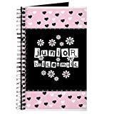 CafePress - Hearts Junior Bridesmaid - Spiral Bound Journal Notebook, Personal Diary, Task Journal