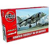Airfix - Kit de modelismo, avión Hawker Siddeley Harrier AV-8A 1:72 (Hornby A04057)