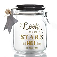 Idea Regalo - Boxer Gifts barattoli–Look Up at The Stars, Gold, One