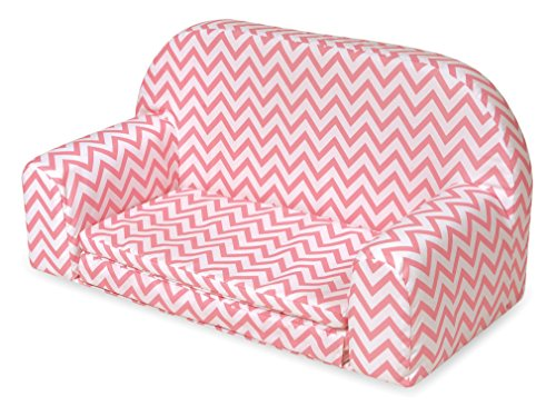 Badger Basket Muñeca de tapizado sofá desplegable con Cama-Rosa Chevron