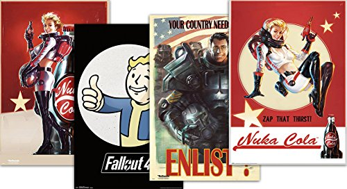 Close Up Set di Poster Fallout 4 - Vintage (0cm x 0cm)