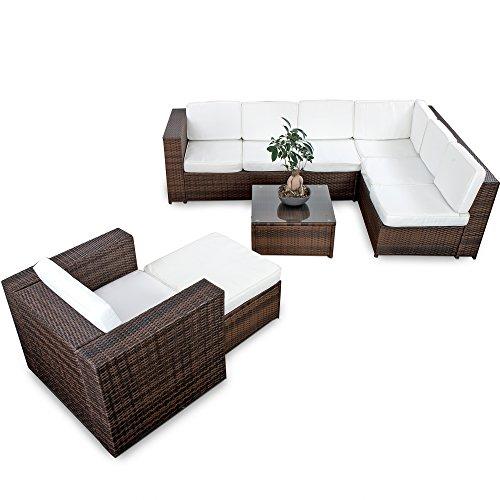XINRO® 22tlg. Polyrattan Gartenmöbel Lounge Set
