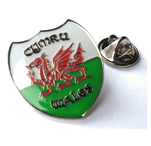Walisische Flagge Shield Metall Button Badge Pin Pins Anstecker (ref.: newpnd)