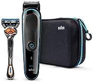 Braun Multi Grooming Kit – 9-in-1 Precision Trimmer for Beard and Hair Styling + Gillitte ProGlide Razor, MGK3