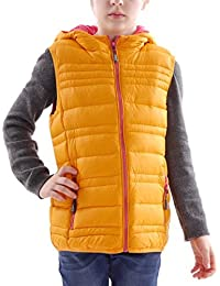 CMP Chaleco de plumas para exterior Chaleco Chaleco Capucha Naranja Cálido bolsillos talla 1283z50145