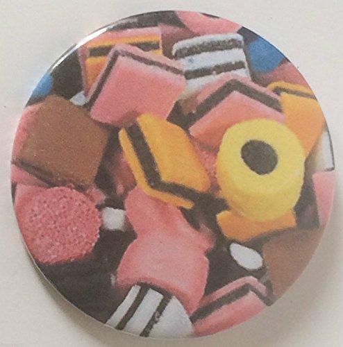 Liquirizia Allsorts 59mm Distintivo Di Lapel Pin Pulsante