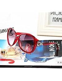 en le nouveau visage de star de la personnalité coréen de lunettes de soleil mesdames vague rétro grande section des lunettes de soleil les lunettes de soleilviolet envoyez miroir transparent sac de collecte)