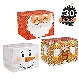 30 Cajas para Empaque de Regalos Navideños- Mejor que el Papel de Embalaje de Navidad - Ideal para Empacar Productos de Repostería, Dulces - Articulo de Papelería para Decoración de Obsequios