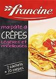 Francine Ma Pâte à Crêpes Légères/Moelleuses 2 sachets Boîte de 380 g...