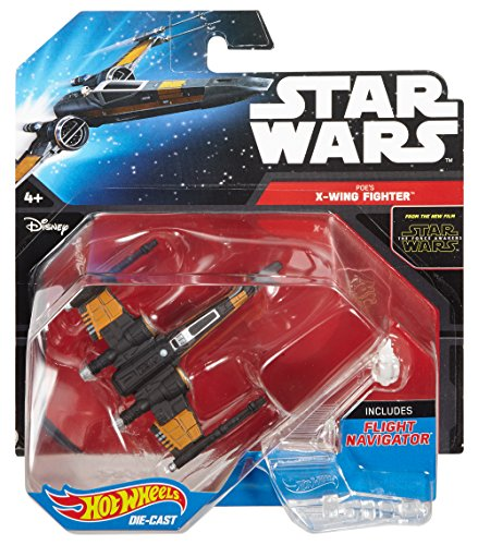 Hot Wheels Star Wars Poe's X-Wing Fighter (Closed Wings) Die-Cast Vehicle by Mattel