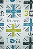 Vlies Tapete Fashion Style Jugend Zimmer Girls Tapete weiß türkis grau gelb