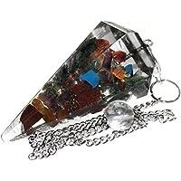 Péndulo en Orgonita para radiestesia y sanación con cristales de 7 Chakras