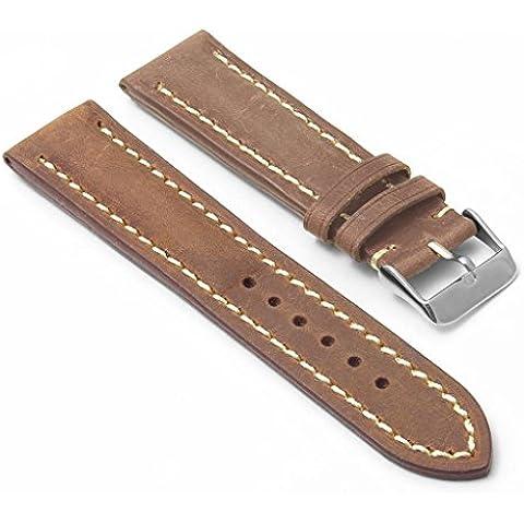 DASSARI Avant marrón envejecido italiano piel banda de reloj para Breitling 24/2224mm