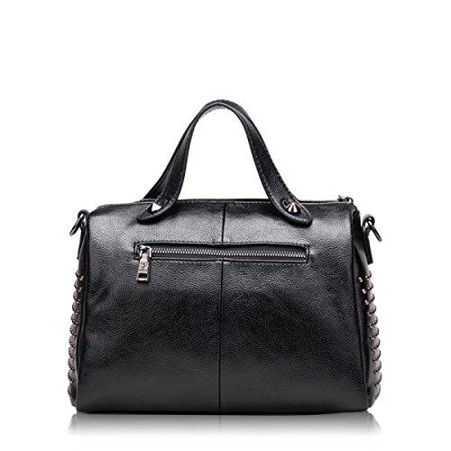 Leder Handtaschen Windsack Tasche Kissen Tasche Schultertasche Handtasche Messenger Tasche Einfache Mode Freizeit Grey