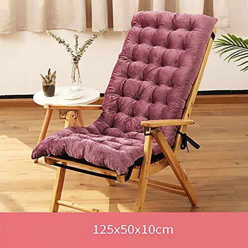 Verlängern Schaukelstuhl Kissen Mit Krawatten, Verdicken Anti-rutsch Einteilige Stuhl Pad Chaise Lounge Kissen Linderung Von Rückenschmerzen-h 125x50x10cm(49x20x4inch) -