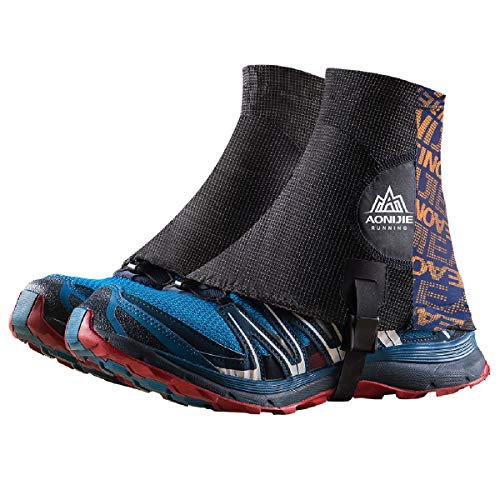 Azarxis Low Trail Ghette Riflettenti Caviglie Gators Copriscarpe protettive con Protezione UV e Traspirante e Anti-Sabbia per Donne e Uomini e Giovani Arrampicata (Arancia)