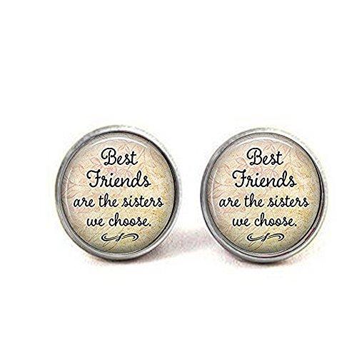 nijiahx Best Friends Sind die Schwestern Wir Wählen, Freundschaft Ohrringe Best Friends Ohrringe, Zitat Jewelry Freundschaft Ohrringe