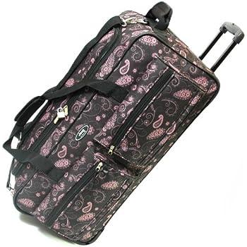 Jeep Wheeled Luggage Bag - 5 Years Warranty! (27 Inch, Black Paisley)
