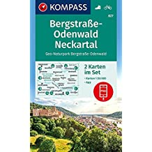 Bergstraße-Odenwald, Neckartal, Geo-Naturpark Bergstraße-Odenwald: 2 Wanderkarten 1:50000 im Set inklusive Karte zur offline Verwendung in der (KOMPASS-Wanderkarten, Band 827)