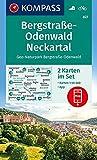 Bergstraße-Odenwald, Neckartal, Geo-Naturpark Bergstraße-Odenwald: 2 Wanderkarten 1:50000 im Set inklusive Karte zur offline Verwendung in der ... (KOMPASS-Wanderkarten, Band 827) -