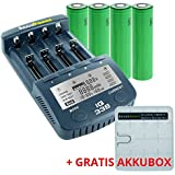 AccuPower IQ338 chargeur incl. 4x Sony US18650VTC5 capable de forts courants