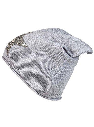 Zwillingsherz Slouch-Beanie-Mütze mit Kaschmir - Hochwertige Strickmütze für Damen...