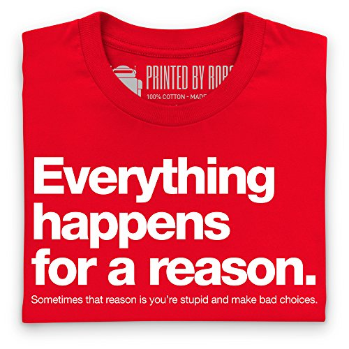 Everything Happens T-Shirt, Damen Rot