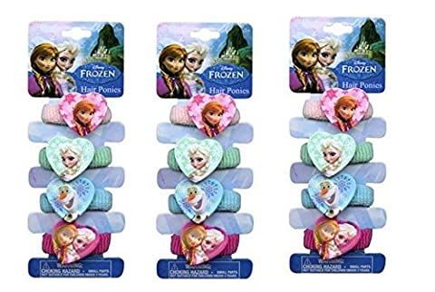 Disney Frozen 4 Terries Hair Band with Plastic Character x 3 packs by Disney Frozen