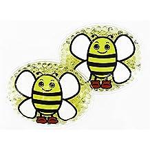 2 Kühlpads mit lustigem Tiermotiv für Kinder (Biene)