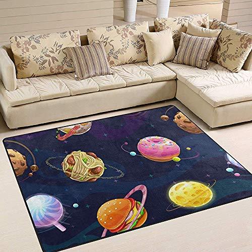 LAURE Area Rug Teppiche Hamburg Donut Planeten Nudeln Fleischbällchen Bodenmatte Wohnzimmer Schlafzimmer Sofa Teppich rutschfeste Teppichmatte